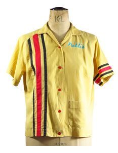 True Vintage Ladies 1950s Yellow Bowling Shirt