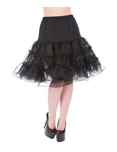 Hearts & Roses 25'' Petticoat In Black