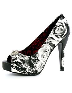Iron Fist OMG! Skull Butterfly Platform Shoes Black Size UK 3-8