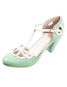 Dancing Days 1950s Style Lively Aimee Mint Heels Shoes