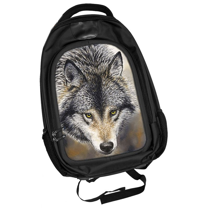 Natures Beauty Wolf 3D Lenticular Backpack Rucksack