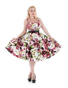 Hearts & Roses London 50's Princess Lily Dress In Red