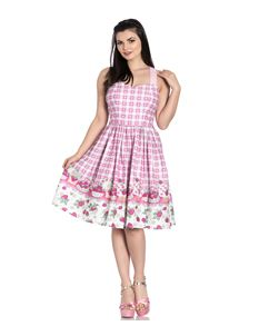Hell Bunny Strawberry Shortcake Heart Pink Summer Dress