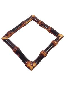 Brown Square bamboo bangle by Voodoo Betty