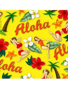 Snugbat Aloha Pinup Greetings Card