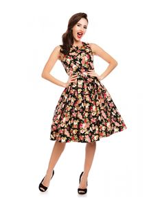 Dolly & Dotty Annie Black Floral Dress