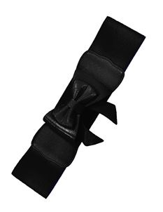 Banned Play It Right 50's Retro Elastic Bow Belt