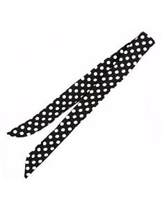 Collectif Pin-Up Black White Polka Dot Wired Bandana