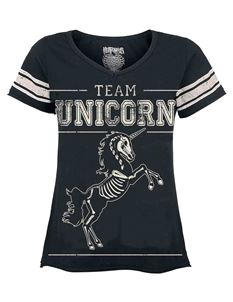 Heartless Team Unicorn Varsity Black Tee T-Shirt