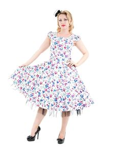 Hearts & Roses 50s Retro Style Poppy Floral Day Dress