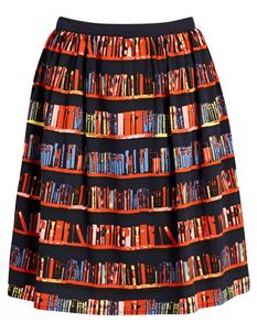Joanie Clothing Cressida Library Book Print Skirt