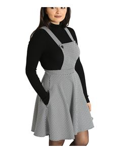 Hell Bunny Harvey Houndstooth Mini Pinafore Dress