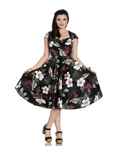 Hell Bunny Kalei Tropical Floral 50s Style Dress