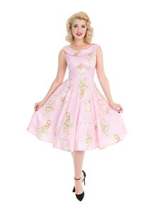 Hearts & Roses Fairy Princess Baby Pink Swing Dress