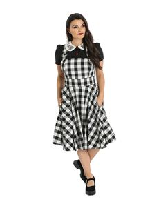 Hell Bunny Victorine Gingham Pinafore Dress