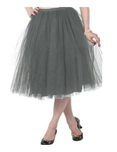 Clarence and Alabama 'Carrie' Tulle Skirt Dove Grey