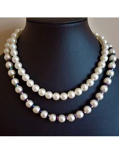 Shazazz Jewellery Double Row Of Pearl Beads Necklace