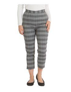 Hell Bunny Gibeon 50s Cigarette Grey Tartan Trousers