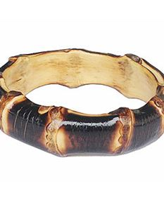Lady Luck's XL Tiki Bamboo Bangle - Burnt