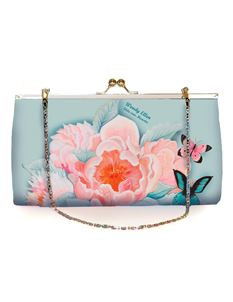 Woody Ellen 50s Vintage Idda Floral Clutch Shoulder Bag