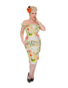 Hearts & Roses 50s Kyra Pencil Summer Wiggle Dress