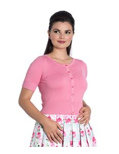 Hell Bunny Wendi Short Sleeved Candy Pink Cardigan
