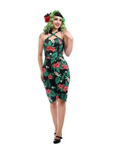 Collectif Mahina Green Tropical Paradise Sarong Dress
