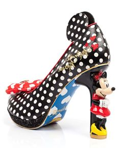 Irregular Choice Black Oh My Mickey Character Heels 37