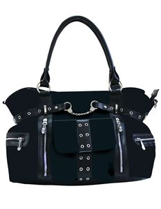 Banned Alternative Rise Up Handcuff Tartan Black Bag