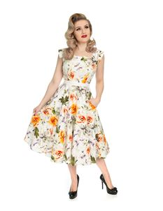 Hearts & Roses 50's Mix Summer Floral Rockabilly Dress