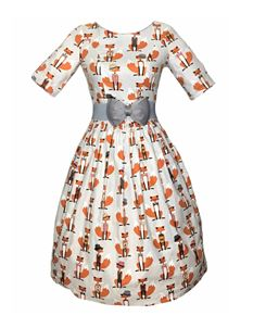 Silly Old Sea Dog 1950s Foxy Foxes Dress