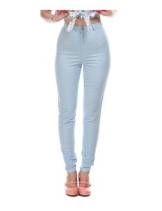 Collectif Maddie Light Blue 50s Style Tight Jeans