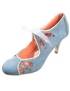 Dancing Days 1950s Light Blue High Heel Shoes