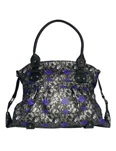 Iron Fist Muerte Ladies Handbag - Charcoal/Metallic