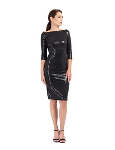 Zoe Vine Ava - Black Sequin Wiggle Dress