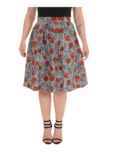 Run & Fly Floral A Line Skirt