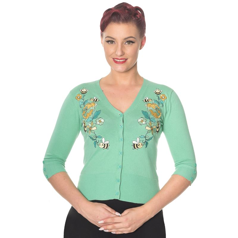 Dancing Days Flickers Busy Bee 50s Style Cardigan
