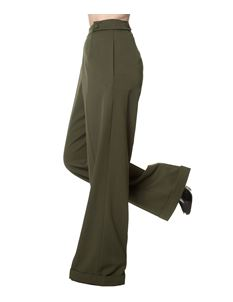 Banned 40s Wide-Leg Party On Classy Trouser In Olive