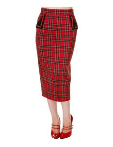 Banned 50s Style Tori Tartan Pencil Wiggle Skirt
