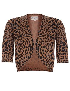 Lindy Bop Kennedy Leopard Print UK 12-14 Shrug