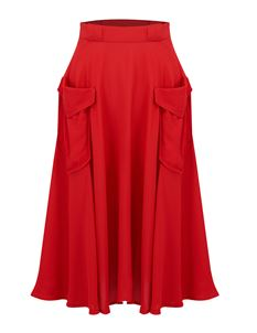 Thelma Skirt Red - The Seamstress of Bloomsbury
