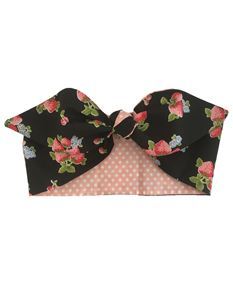 Gas Axe Inc Strawberry Pink Polka Rockabilly Head Scarf