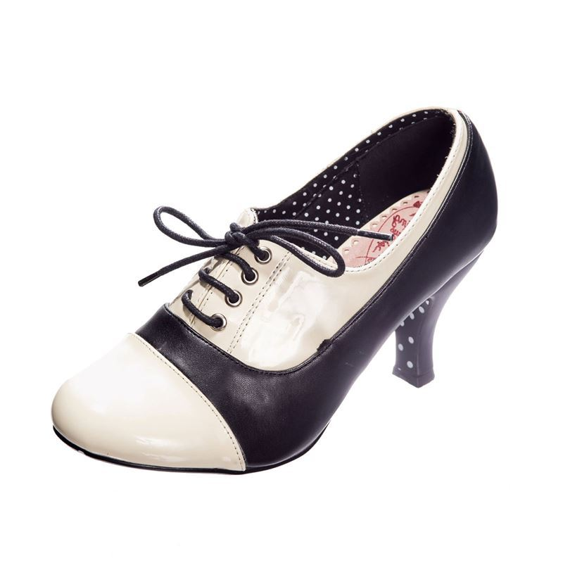 Dancing Days Let The Good Times Roll 40s Lace Up Shoes