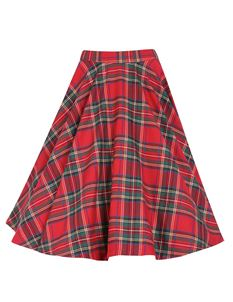 Lindy Bop Peggy Red Tartan Skirt