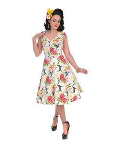 Lady Vintage Isabella Hummingbird 50s Style Dress