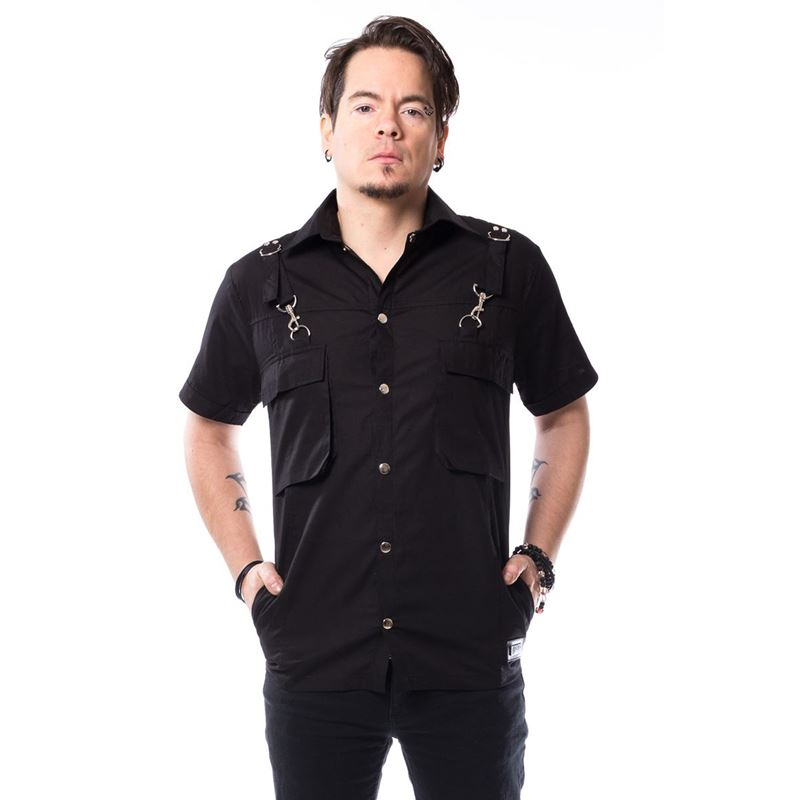 Vixxsin Henrik Men's Short Sleeve Black Shirt
