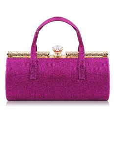Sparkle Glitter Barrel Evening Bag In Purple