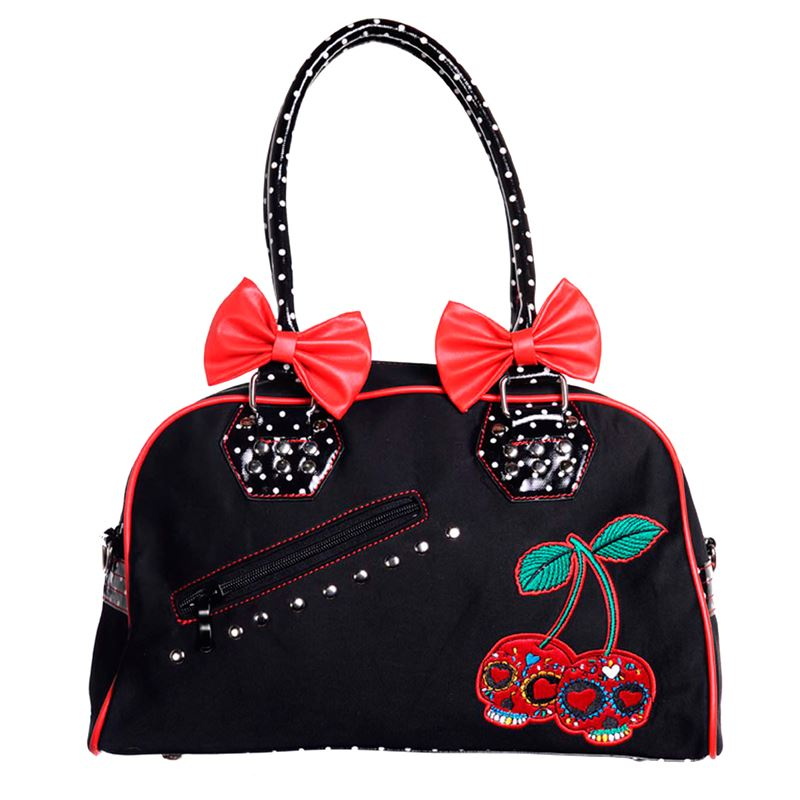 Banned Cherry Skull Swallow Alternative Handbag Bag