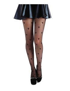 Pamela Mann Black Sheer Crosses Tights