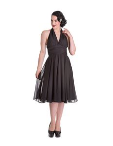 Hell Bunny - Monroe 50s Black Evening Cocktail Dress